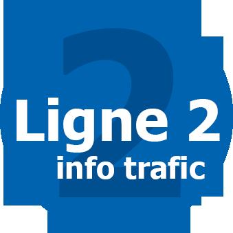 Infos trafic ligne 2