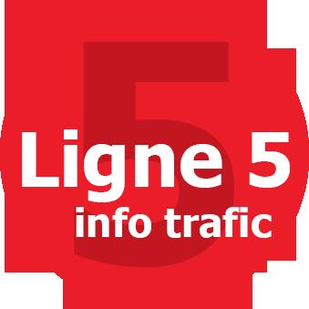 Infos trafic ligne 5
